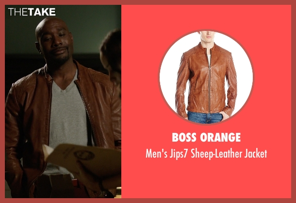 Boss Orange brown jacket from Rosewood seen with Dr. Beaumont Rosewood, Jr. (Morris Chestnut)