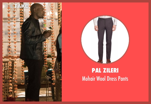 Pal Zileri brown pants from Rosewood seen with Dr. Beaumont Rosewood, Jr. (Morris Chestnut)