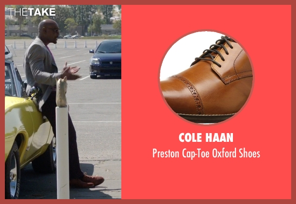 Cole Haan brown shoes from Rosewood seen with Dr. Beaumont Rosewood, Jr. (Morris Chestnut)