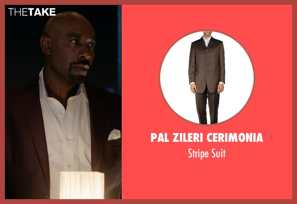 Pal Zileri Cerimonia brown suit from Rosewood seen with Dr. Beaumont Rosewood, Jr. (Morris Chestnut)