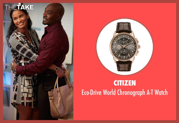 Citizen brown watch from Rosewood seen with Dr. Beaumont Rosewood, Jr. (Morris Chestnut)