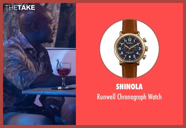 Shinola brown watch from Rosewood seen with Dr. Beaumont Rosewood, Jr. (Morris Chestnut)
