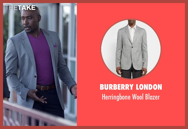 Burberry London gray blazer from Rosewood seen with Dr. Beaumont Rosewood, Jr. (Morris Chestnut)