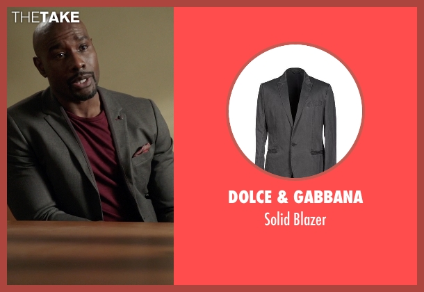 Dolce & Gabbana gray blazer from Rosewood seen with Dr. Beaumont Rosewood, Jr. (Morris Chestnut)