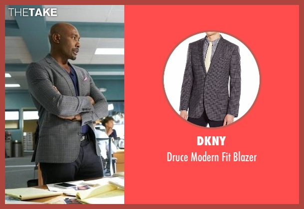 DKNY gray blazer from Rosewood seen with Dr. Beaumont Rosewood, Jr. (Morris Chestnut)