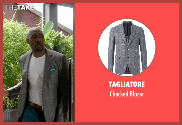 Tagliatore gray blazer from Rosewood seen with Dr. Beaumont Rosewood, Jr. (Morris Chestnut)