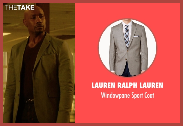 Lauren Ralph Lauren gray coat from Rosewood seen with Dr. Beaumont Rosewood, Jr. (Morris Chestnut)