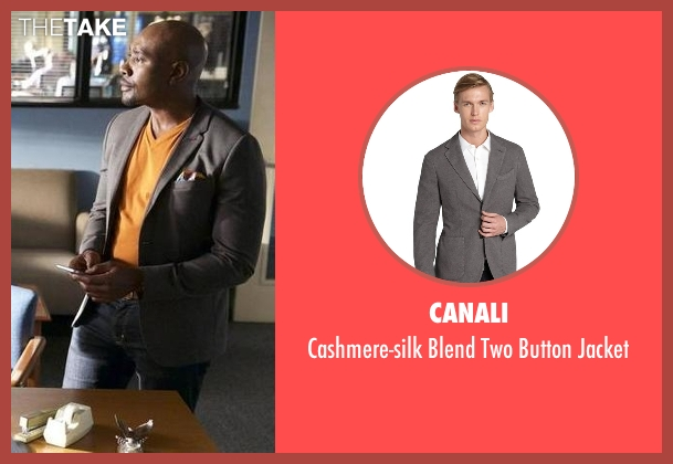 Canali gray jacket from Rosewood seen with Dr. Beaumont Rosewood, Jr. (Morris Chestnut)