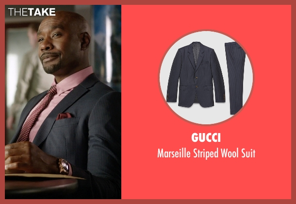 Gucci gray suit from Rosewood seen with Dr. Beaumont Rosewood, Jr. (Morris Chestnut)