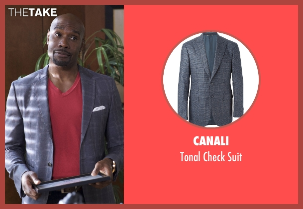 Canali gray suit from Rosewood seen with Dr. Beaumont Rosewood, Jr. (Morris Chestnut)