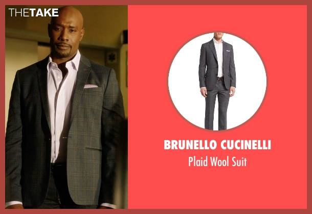 Brunello Cucinelli gray suit from Rosewood seen with Dr. Beaumont Rosewood, Jr. (Morris Chestnut)
