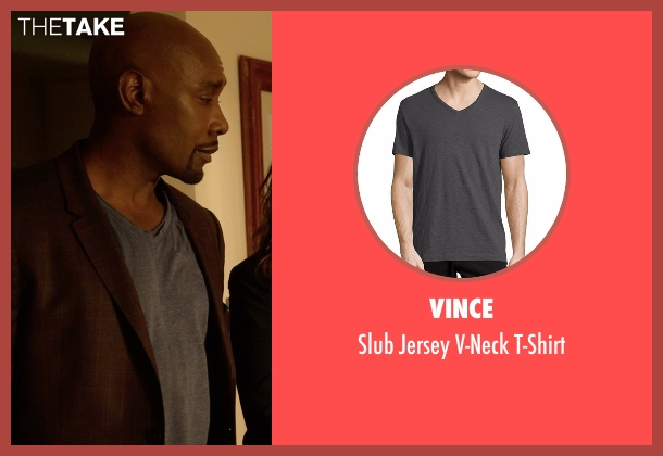 Vince gray t-shirt from Rosewood seen with Dr. Beaumont Rosewood, Jr. (Morris Chestnut)