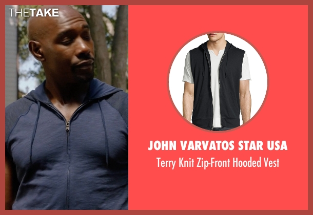 John Varvatos Star USA gray vest from Rosewood seen with Dr. Beaumont Rosewood, Jr. (Morris Chestnut)