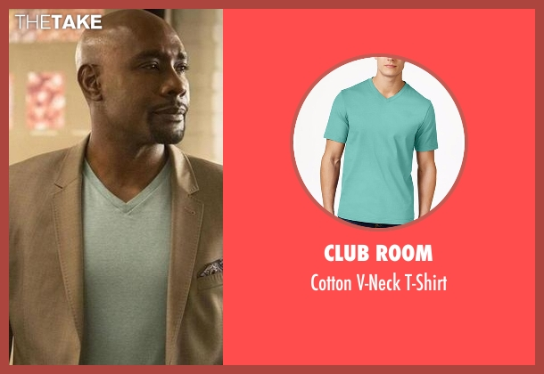 Club Room green t-shirt from Rosewood seen with Dr. Beaumont Rosewood, Jr. (Morris Chestnut)