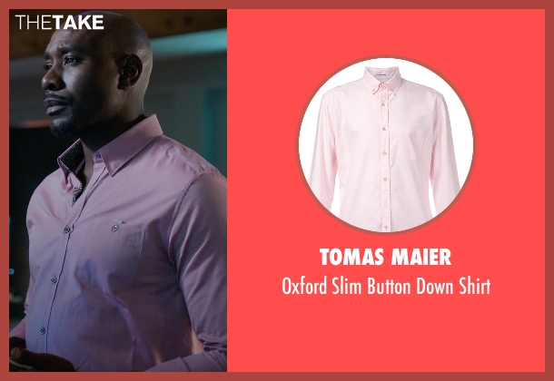 Tomas Maier pink shirt from Rosewood seen with Dr. Beaumont Rosewood, Jr. (Morris Chestnut)
