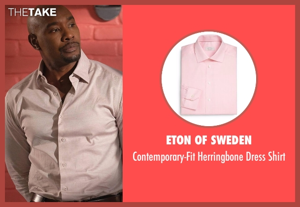 Eton of Sweden pink shirt from Rosewood seen with Dr. Beaumont Rosewood, Jr. (Morris Chestnut)