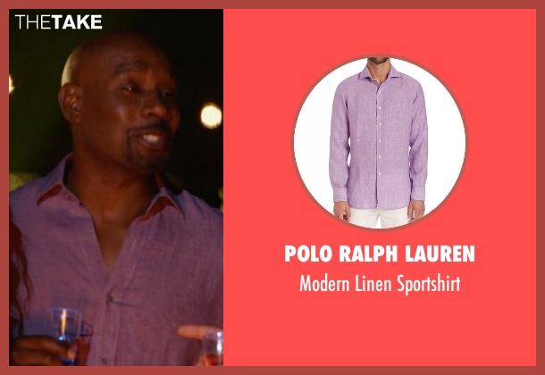 Polo Ralph Lauren pink sportshirt from Rosewood seen with Dr. Beaumont Rosewood, Jr. (Morris Chestnut)