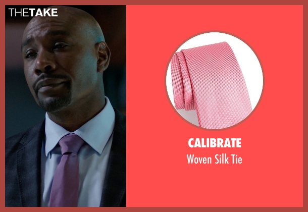 Calibrate pink tie from Rosewood seen with Dr. Beaumont Rosewood, Jr. (Morris Chestnut)
