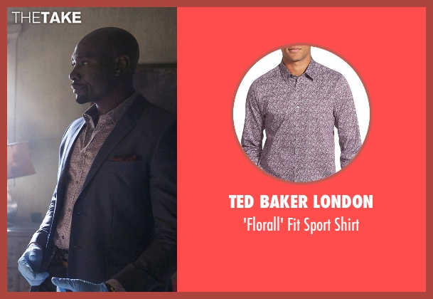 Ted Baker London purple shirt from Rosewood seen with Dr. Beaumont Rosewood, Jr. (Morris Chestnut)
