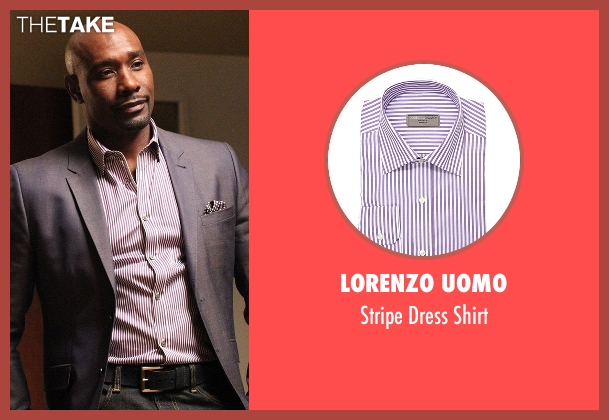 Lorenzo Uomo purple shirt from Rosewood seen with Dr. Beaumont Rosewood, Jr. (Morris Chestnut)