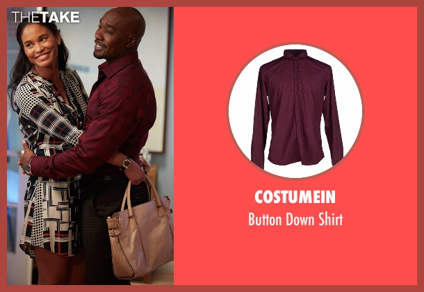 Costumein red shirt from Rosewood seen with Dr. Beaumont Rosewood, Jr. (Morris Chestnut)