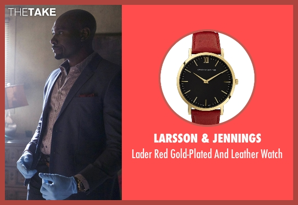 Larsson & Jennings red watch from Rosewood seen with Dr. Beaumont Rosewood, Jr. (Morris Chestnut)