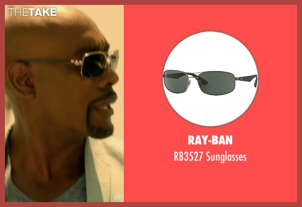 Salvatore Ferragamo silver sunglasses from Rosewood seen with Dr. Beaumont Rosewood, Jr. (Morris Chestnut)