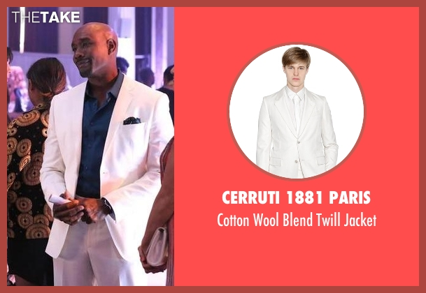 Cerruti 1881 Paris white jacket from Rosewood seen with Dr. Beaumont Rosewood, Jr. (Morris Chestnut)