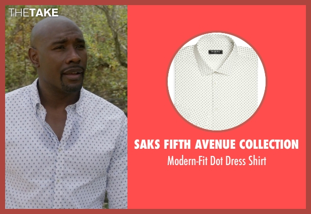 Saks Fifth Avenue Collection white shirt from Rosewood seen with Dr. Beaumont Rosewood, Jr. (Morris Chestnut)