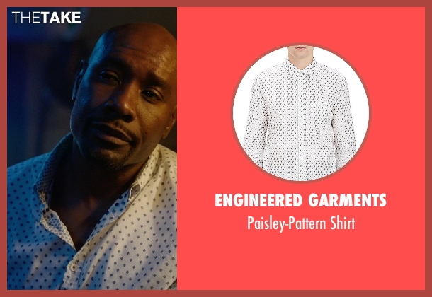Engineered Garments white shirt from Rosewood seen with Dr. Beaumont Rosewood, Jr. (Morris Chestnut)
