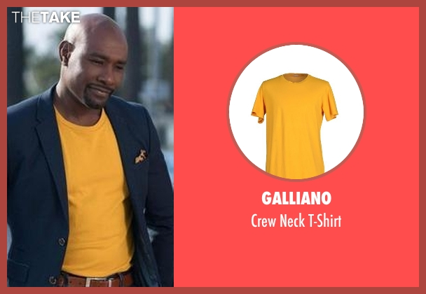Galliano yellow t-shirt from Rosewood seen with Dr. Beaumont Rosewood, Jr. (Morris Chestnut)