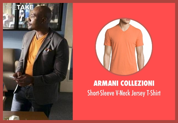 Armani Collezioni yellow t-shirt from Rosewood seen with Dr. Beaumont Rosewood, Jr. (Morris Chestnut)