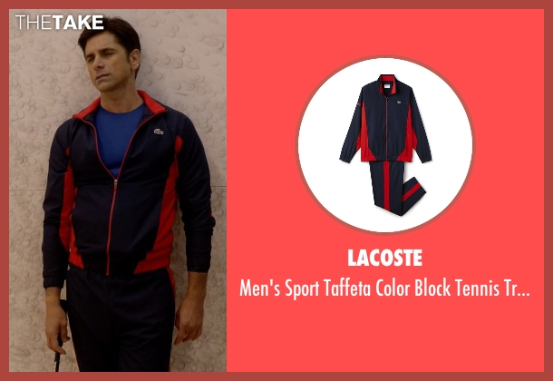 Lacoste blue tracksuit from Scream Queens seen with Dr. Brock Holt (John Stamos)