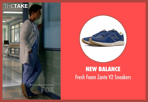 New Balance blue sneakers from Scream Queens seen with Dr. Cassidy Cascade (Taylor Lautner)
