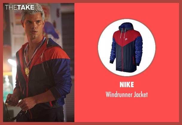 Nike jacket from Scream Queens seen with Dr. Cassidy Cascade (Taylor Lautner)
