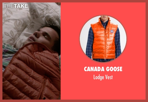 Canada Goose orange vest from Scream Queens seen with Dr. Cassidy Cascade (Taylor Lautner)