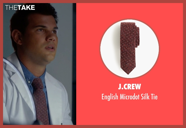 J.Crew red tie from Scream Queens seen with Dr. Cassidy Cascade (Taylor Lautner)