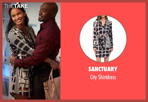 Sanctuary white shirtdress from Rosewood seen with Dr. Erica Kincaid (Joy Bryant)