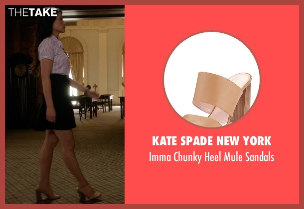Kate Spade New York	 beige sandals from Elementary seen with Dr. Joan Watson (Lucy Liu)