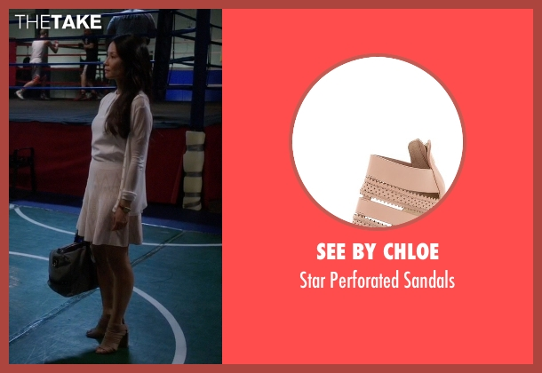 See By Chloe beige sandals from Elementary seen with Dr. Joan Watson (Lucy Liu)