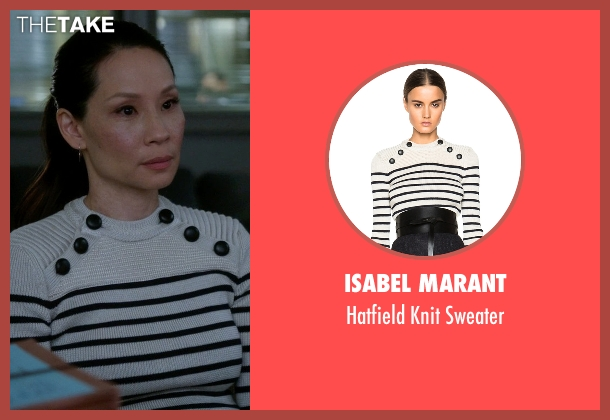 Isabel Marant beige sweater from Elementary seen with Dr. Joan Watson (Lucy Liu)