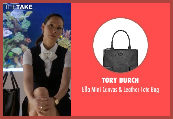 Tory Burch black bag from Elementary seen with Dr. Joan Watson (Lucy Liu)
