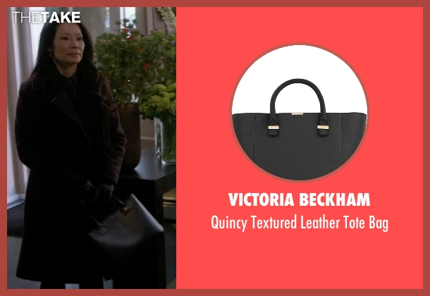 Victoria Beckham black bag from Elementary seen with Dr. Joan Watson (Lucy Liu)