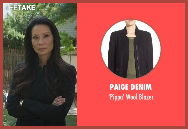 Paige Denim black blazer from Elementary seen with Dr. Joan Watson (Lucy Liu)