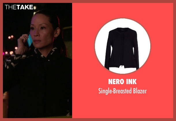 Nero Ink black blazer from Elementary seen with Dr. Joan Watson (Lucy Liu)