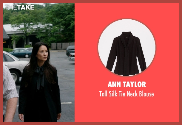 Ann Taylor black blouse from Elementary seen with Dr. Joan Watson (Lucy Liu)