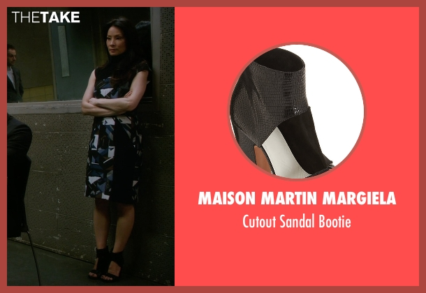 Maison Martin Margiela black bootie from Elementary seen with Dr. Joan Watson (Lucy Liu)