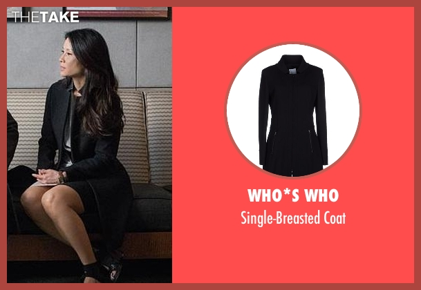 Who*s Who black coat from Elementary seen with Dr. Joan Watson (Lucy Liu)