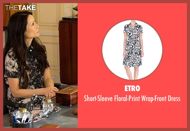 Etro black dress from Elementary seen with Dr. Joan Watson (Lucy Liu)