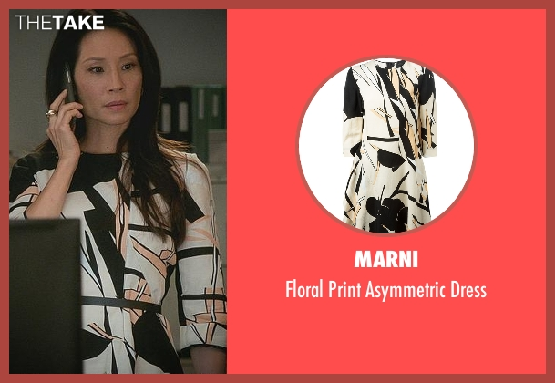 Marni black dress from Elementary seen with Dr. Joan Watson (Lucy Liu)